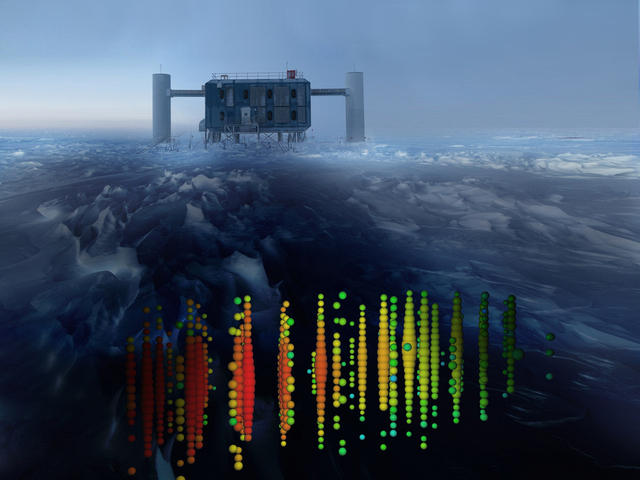 Ice Cube detector in south pole