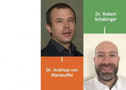 ICER Research Highlights graphic with two researchers' photo