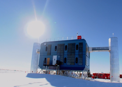 IceCube detector in south pole