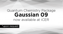 Quantam Chemistry package Gaussian 09 now available at iCER